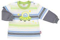 2be3 Chlapčenské tričko Kosmos s UFO - farebné, 62 cm