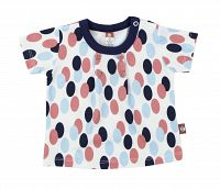 2be3 Dievčenské vzorované tričko s gombíkmi - farebné, 86 cm