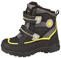 ALPINE PRO Detská zimná obuv Kibbi - žlto-čierna, EUR 26