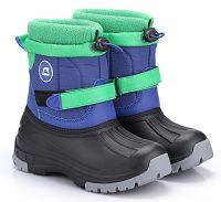 79322eb73644 ALPINE PRO Detská zimná obuv Patam- modro-zelená