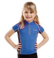 ALPINE PRO Detské funkčné tričko Donnino - modré, 146 cm