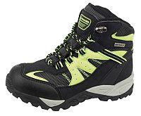 ALPINE PRO Detské trakkingové topánky Borota - čierno-žlté, EUR 32