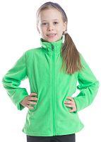 ALPINE PRO Dievčenská fleecová mikina na zips Kiera - svetlo zelená, 98 cm