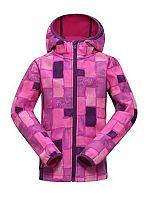 ALPINE PRO Dievčenská softshellová bunda Binko - ružová