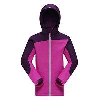 ALPINE PRO Dievčenská športová bunda Humano - fialová, 128-134 cm