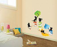 Ambiance Dekoračné samolepky - Mačky maliarky