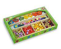 ANDREU Toys Zelená krabica korálok