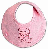 Babyboum Podbradník / slintáčik Funky, 21 cm, ružový