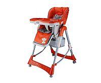 BabyGO Detská jedálenská stolička Maxi - oranžová