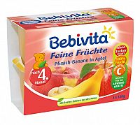 Bebivita Jablká s broskyňami a banánmi 4x100g
