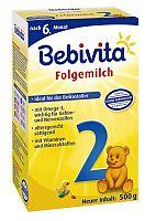 Bebivita Mlieko 2 Instantná pokračovacia mliečna dojčenská výživa od uk. 6. mesiaca - NOVINKA 4x500g