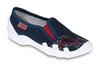 Befado Chlapčenské papučky s pavúkom Skate - tmavo modré, EUR 35