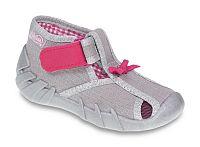 Befado Dievčenské papučky s mašličkou Speedy - šedé, EUR 22