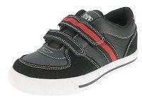 Beppi Chlapčenské tenisky s červeným prúžkom - čierne, EUR 32