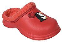 Beppi Dievčenské hrejivé papuče s tučniakom - červené, EUR 35