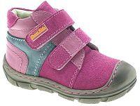 Beppi Dievčenské kožené členkové topánky - ružové, EUR 23