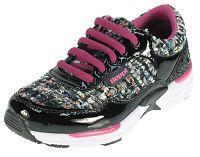 Beppi Dievčenské lesklé tenisky - ružovo-čierne, EUR 32