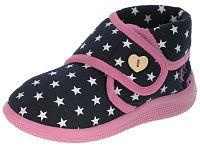 Beppi Dievčenské papučky s hviezdičkami - tmavo modré, EUR 28