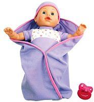 Bino Hovoriaca bábika v perinke - fialová