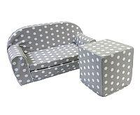 Bino Sivá sedacia kocka