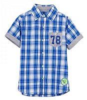 5ef7ff571b0d Blue Seven Chlapčenská kockovaná košeľa - modrá