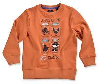 Blue Seven Chlapčenská mikina Big Giants - oranžová, 92 cm