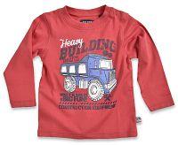 Blue Seven Chlapčenské tričko Building - červené, 68 cm