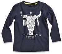 Blue Seven Chlapčenské tričko s býkom - modré, 104 cm