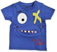 Blue Seven Chlapčenské tričko s kapsičkou Do not be afraid - modré, 68 cm