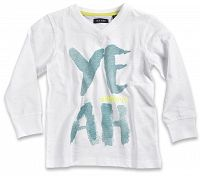 Blue Seven Chlapčenské tričko Yeah - biele, 92 cm