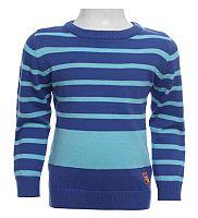 Blue Seven Chlapčenský pruhovaný sveter - modrý, 122 cm