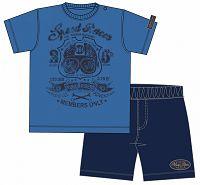 Blue Seven Chlapčenský set trička a šortiek Speed Racer - modrý, 74 cm