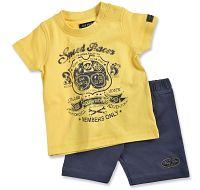 Blue Seven Chlapčenský set trička a šortiek Speed Racer - žltý, 62 cm