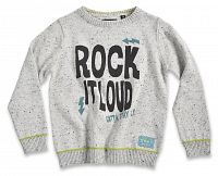 Blue Seven Chlapčenský sveter Rock it loud - svetlo sivý, 92 cm