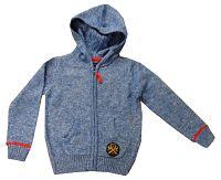 Blue Seven Chlapčenský žíhaný sveter - modrý, 122 cm