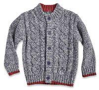 Blue Seven Chlapčenský žíhaný sveter - šedý, 86 cm