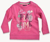 Blue Seven Dievčenská mikina Play time - ružová, 80 cm