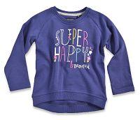 Blue Seven Dievčenská mikina Super happy - fialová, 98 cm