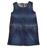 Blue Seven Dievčenské džínsové šatôčky - modré, 116 cm