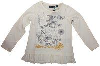 Blue Seven Dievčenské tričko Love s volánmi - biele, 98 cm