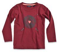 Blue Seven Dievčenské tričko Love - tmavo červené, 98 cm