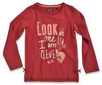 Blue Seven Dievčenské tričko s líškou - červené, 98 cm