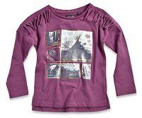 Blue Seven Dievčenské tričko s obrázkami - tmavo ružové, 98 cm