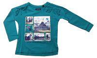 Blue Seven Dievčenské tričko s obrázkami - zelené, 122 cm