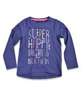 Blue Seven Dievčenské tričko Super happy - fialové, 92 cm