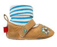Bobobaby Dievčenské balerínky s ponožkou - modro-hnedé, EUR 21