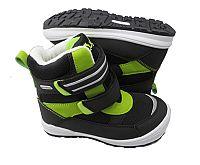 Bugga Chlapčenské zimné topánky s membránou - zeleno-čierne, EUR 27
