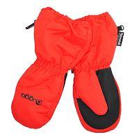 Bugga Detské zimné rukavice s kožušinkou - červené, 98 cm