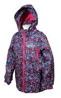 Bugga Dievčenské nepremokavá bunda s podšívkou - ružová, 110 cm