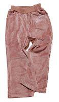 Bugga Dievčenské zamatové tepláky - hnedé, 98 cm